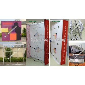 Modern Fabric Pop Up Wall